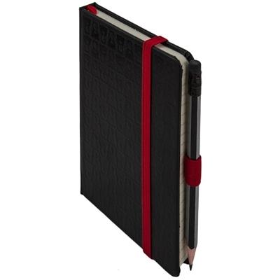 Notes Teribear, černý, linkovaný, 9 x 13 cm